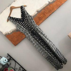 Lucky Brand Black & White Boho Maxi Dress